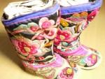 湘绣小花童鞋